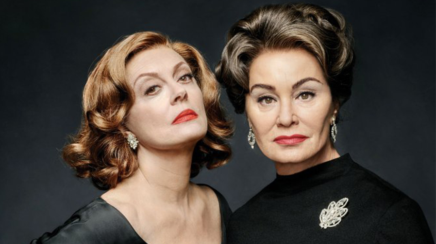 Susan Sarandon and Jessica Lange smoulder as Bette Davis and Joan Crawford in 'Feud' photos