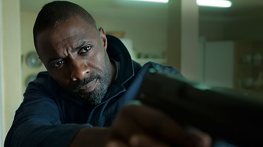 Idris Elba on target in new images for 'Bastille Day'