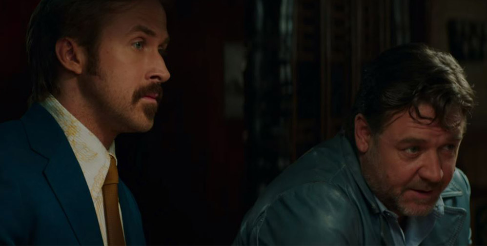 It's hard being nice in the new trailer for 'The Nice Guys'