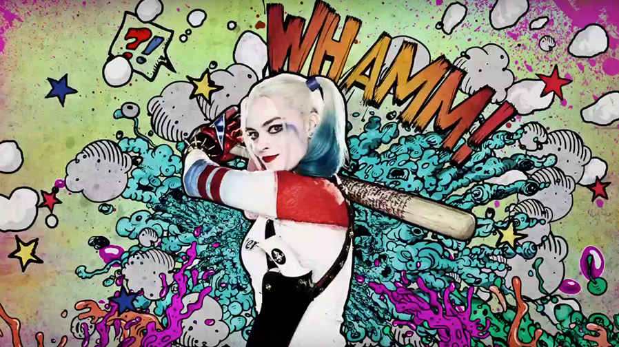 An explosion of colour and madness awaits in new 'Suicide Squad' spots