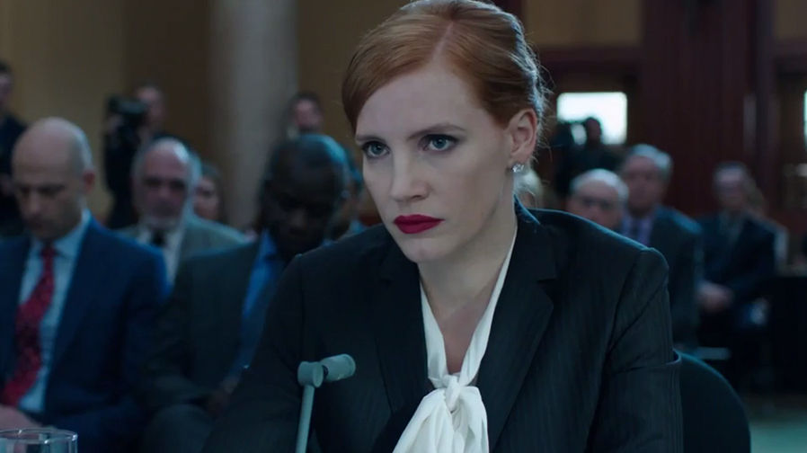 Jessica Chastain takes no prisoners in first trailer for 'Miss Sloane'