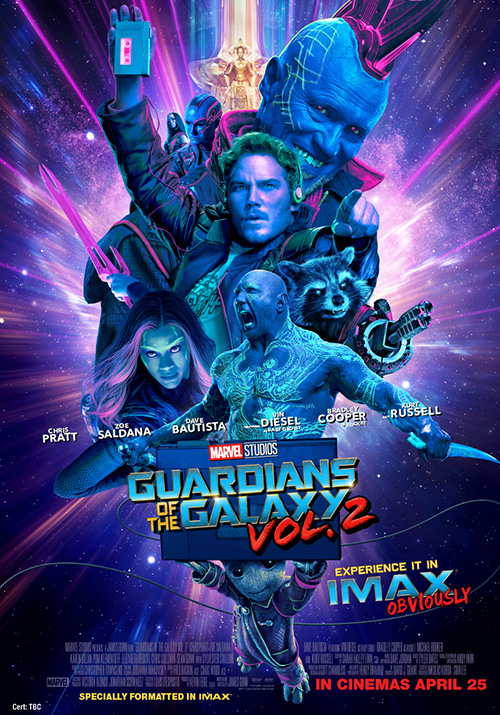 Guardians of the Galaxy Neon IMAX Poster