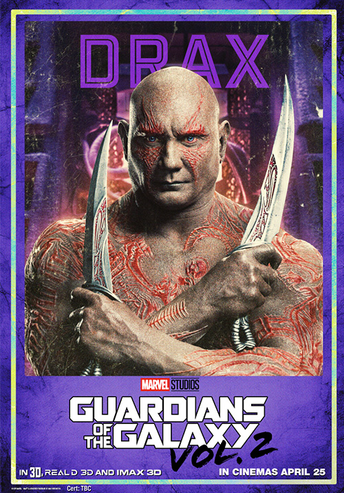 Guardians of the Galaxy Vol 2 Posters SpicyPulp Drax