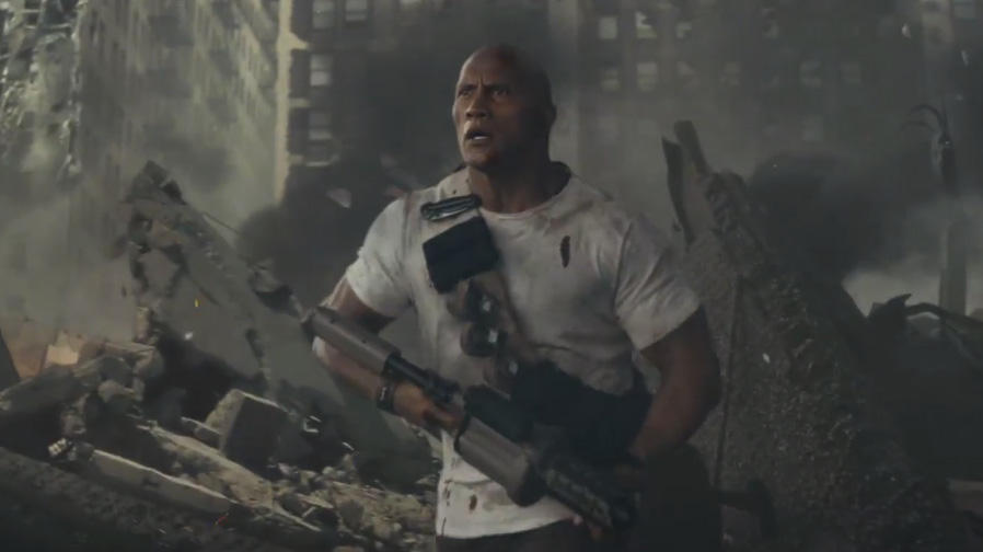 Big gets bigger in the new trailer for 'Rampage'