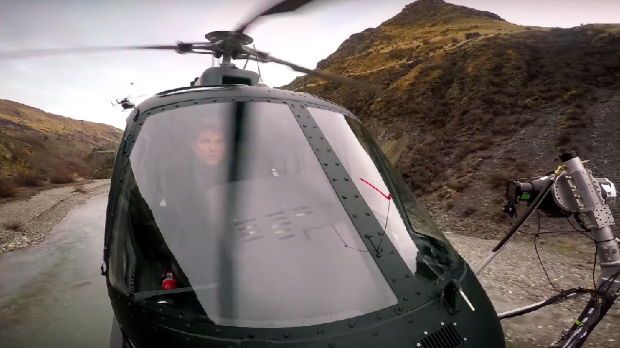 Step inside a helicopter with Tom Cruise for 'Mission: Impossible – Fallout'