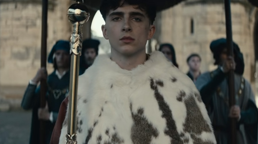 Behold Timothée Chalamet in 'The King'